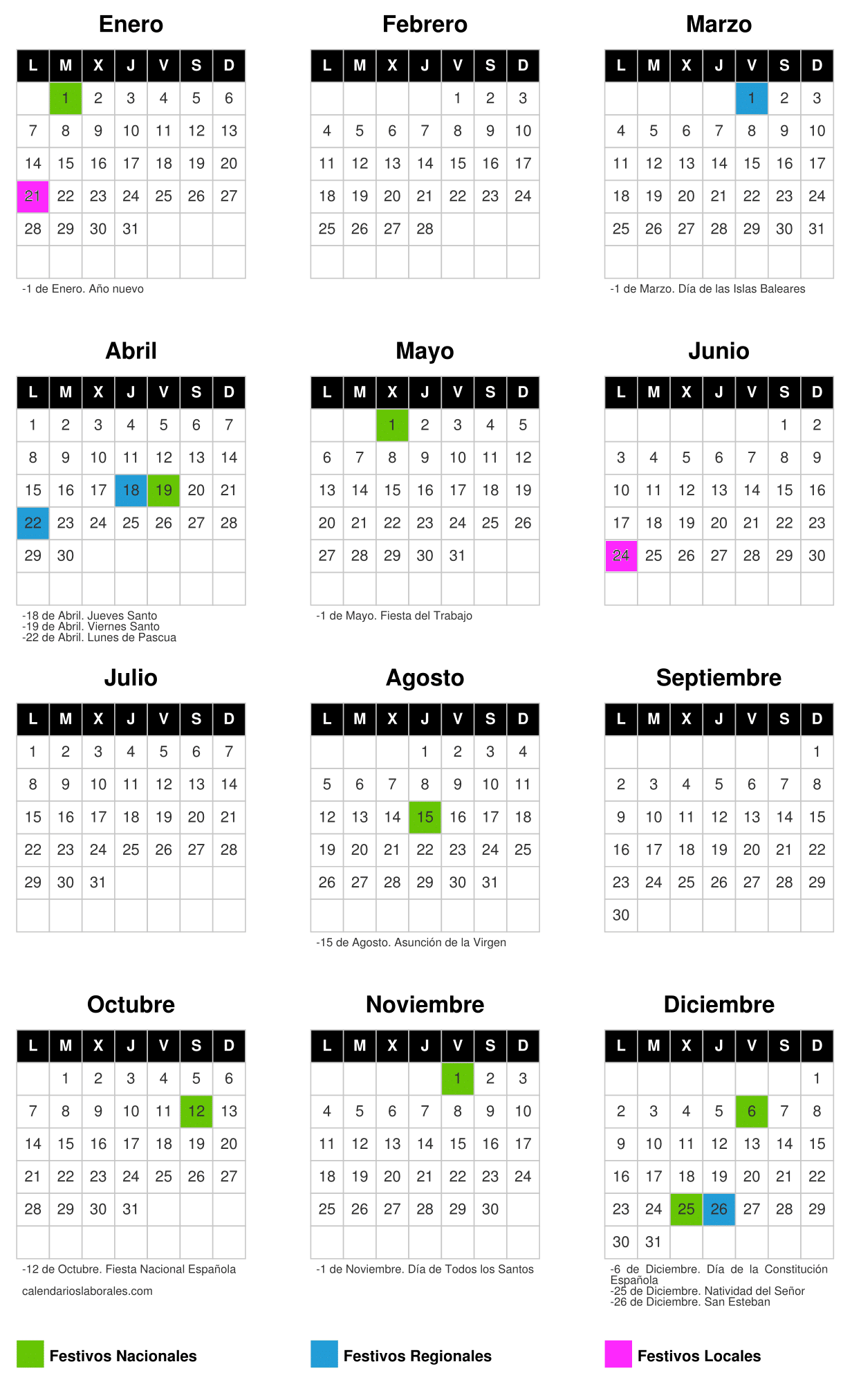Calendario Laboral Palma De Mallorca 2019.Calendario Laboral 2019 Global4 Partner Premium De Wolters Kluwer